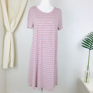 Madewell Sacramento Stripe Swingy Tee Shirt Dress